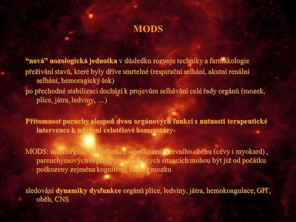 MODS nová nozologická jednotka v důsledku rozvoje techniky a farmakologie.