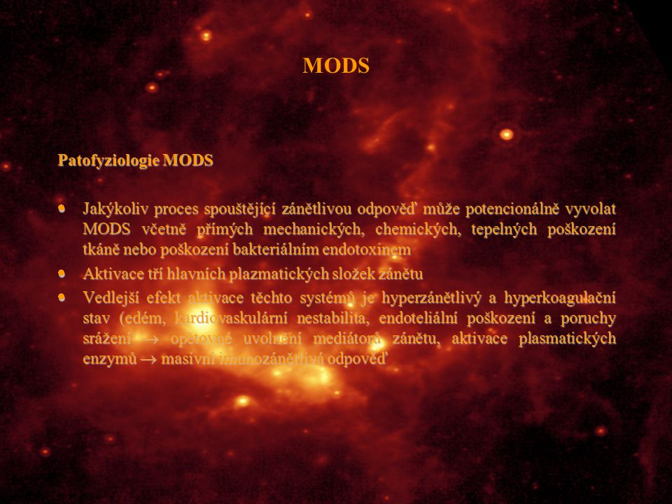 MODS Patofyziologie MODS