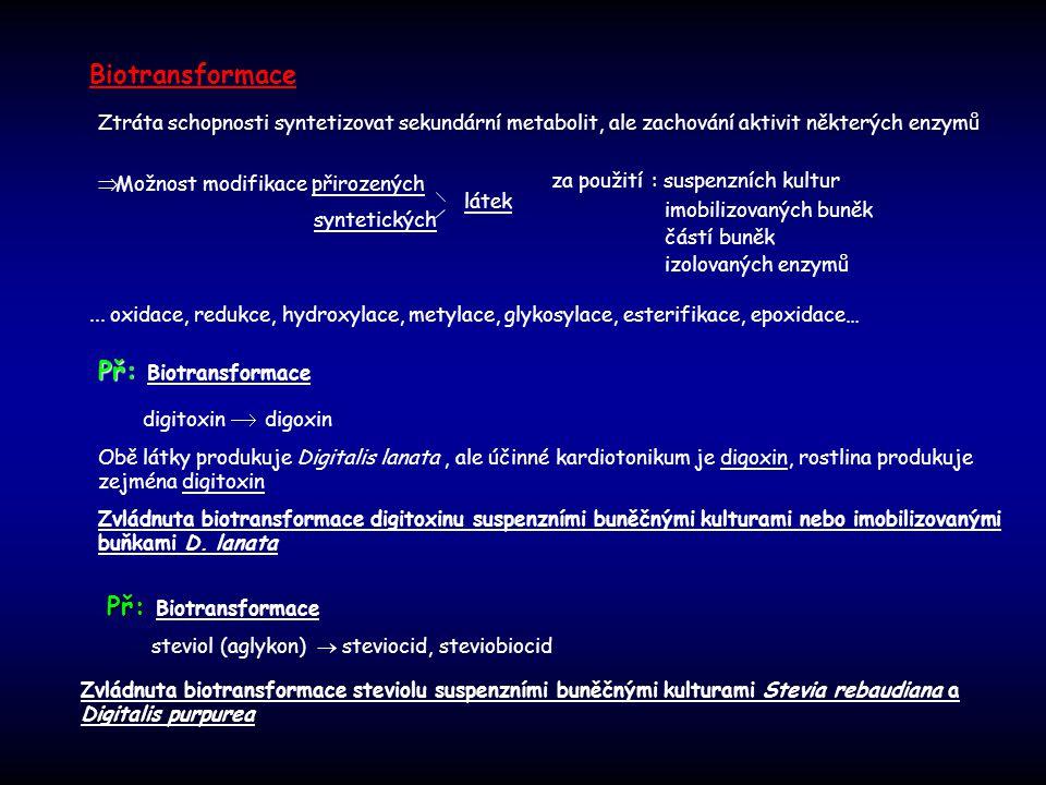 Biotransformace Př: Biotransformace Př: Biotransformace