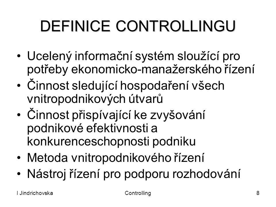 DEFINICE CONTROLLINGU