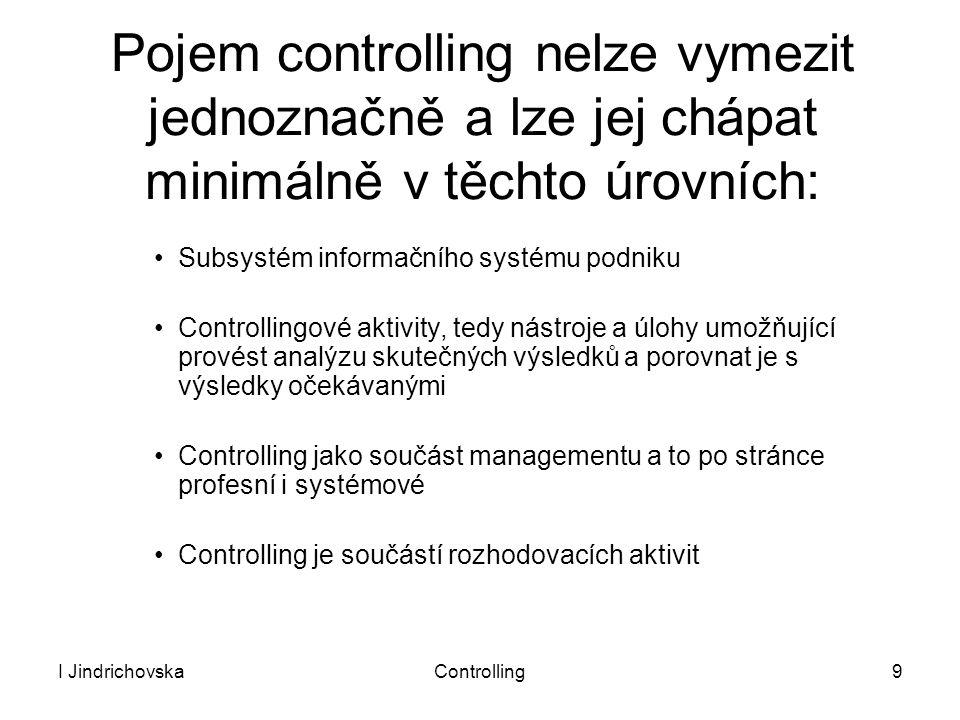 Pojem controlling nelze vymezit jednoznačně a lze jej chápat minimálně v těchto úrovních: