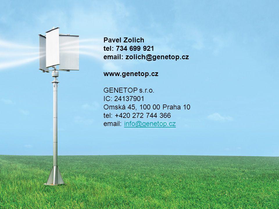 Pavel Zolich tel: 734 699 921. email: zolich@genetop.cz. www.genetop.cz. GENETOP s.r.o. IC: 24137901.