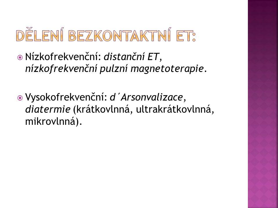 Dělení bezkontaktní ET: