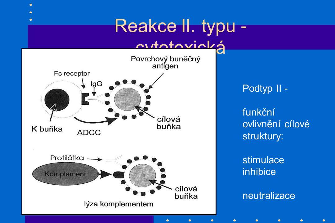 Reakce II. typu - cytotoxická