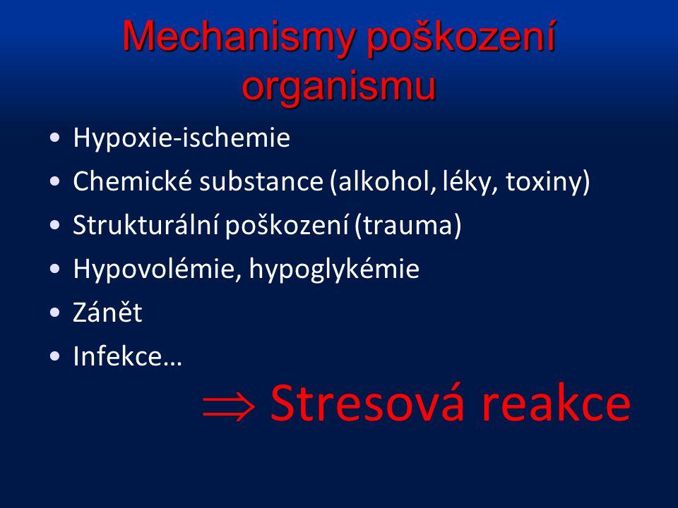 Mechanismy poškození organismu