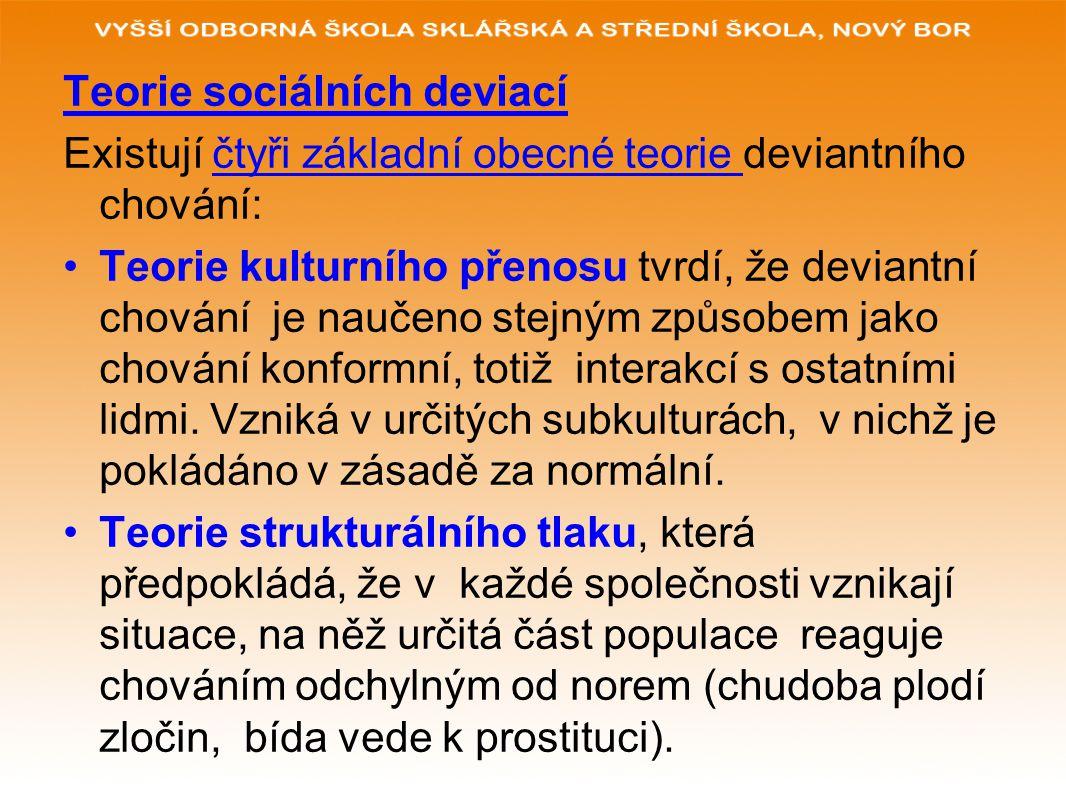 Teorie sociálních deviací