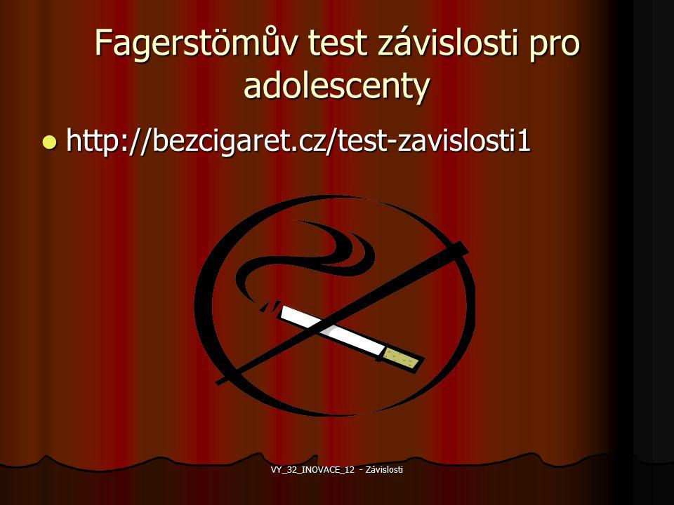 Fagerstömův test závislosti pro adolescenty