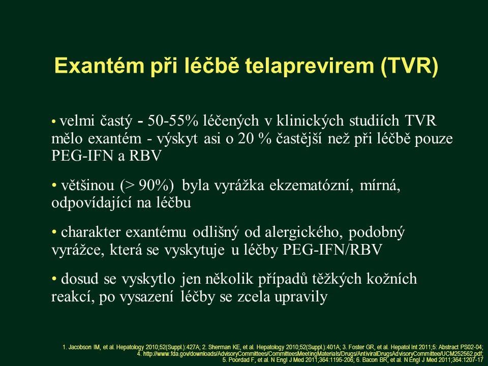 Exantém při léčbě telaprevirem (TVR)