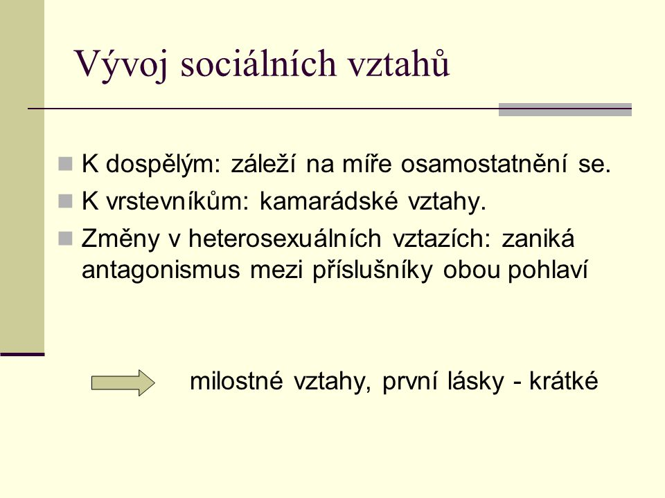 Vývoj sociálních vztahů