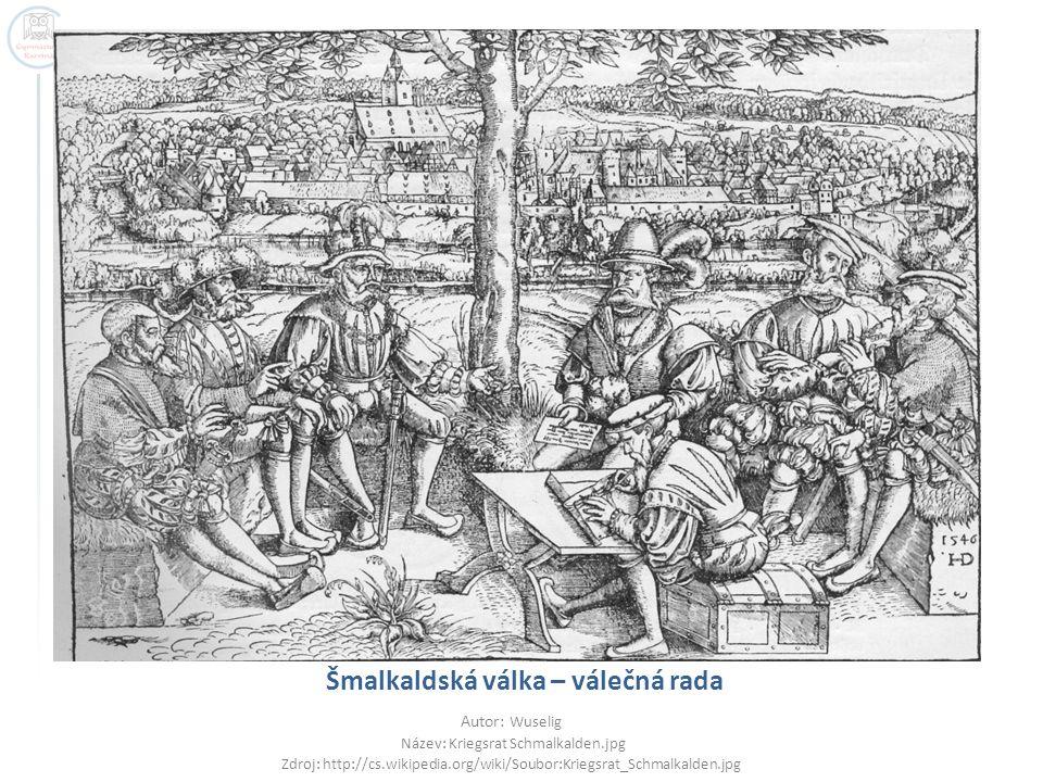 Šmalkaldská válka – válečná rada