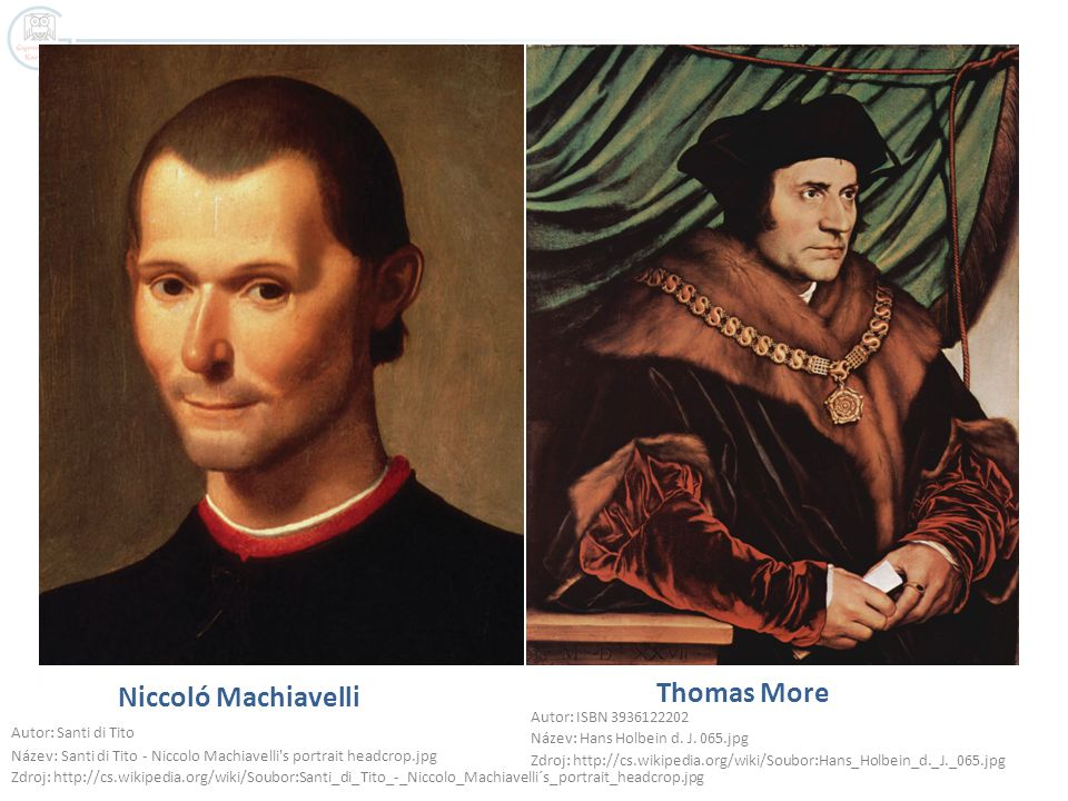 Thomas More Niccoló Machiavelli Autor: ISBN 3936122202
