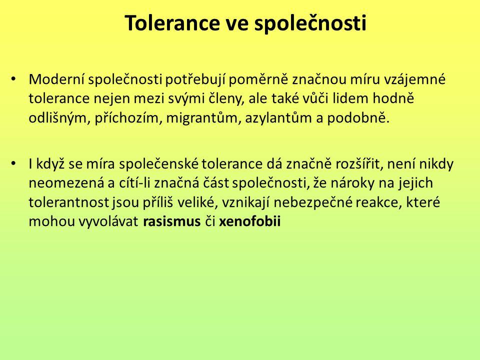 Tolerance ve společnosti