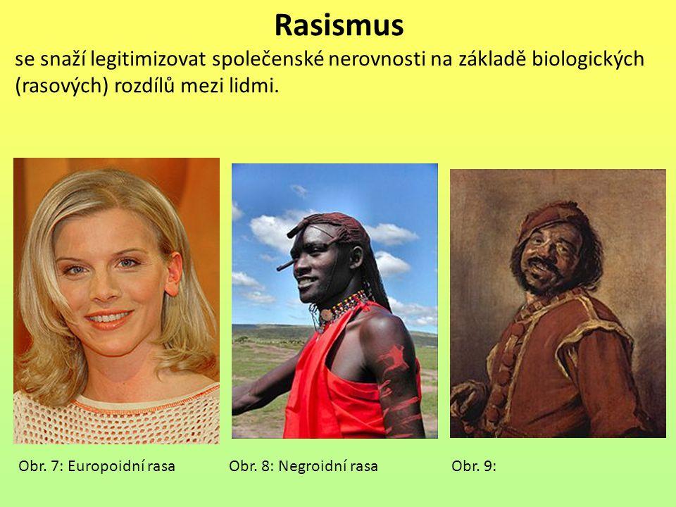 Rasismus se snaží legitimizovat společenské nerovnosti na základě biologických (rasových) rozdílů mezi lidmi.