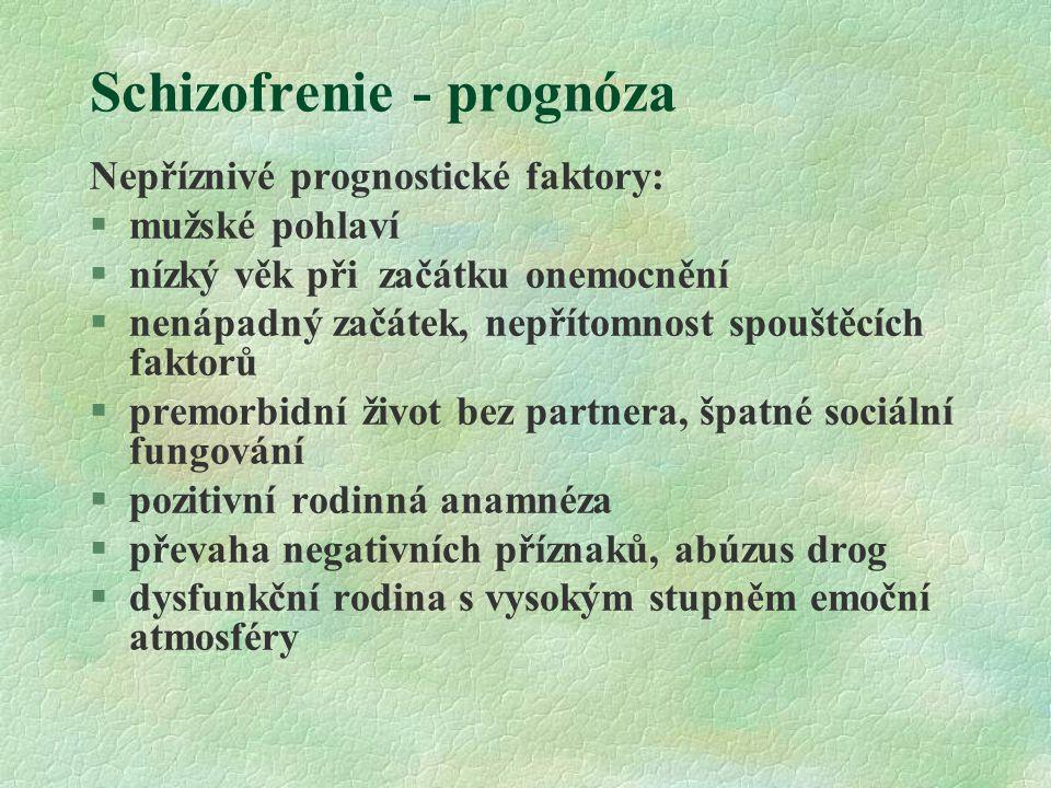 Schizofrenie - prognóza