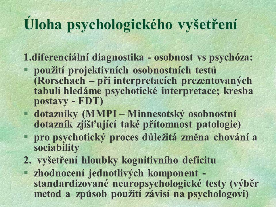Úloha psychologického vyšetření