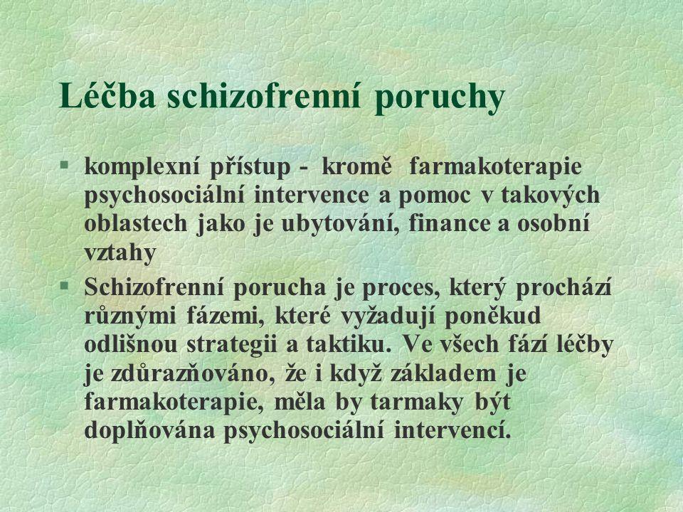 Léčba schizofrenní poruchy