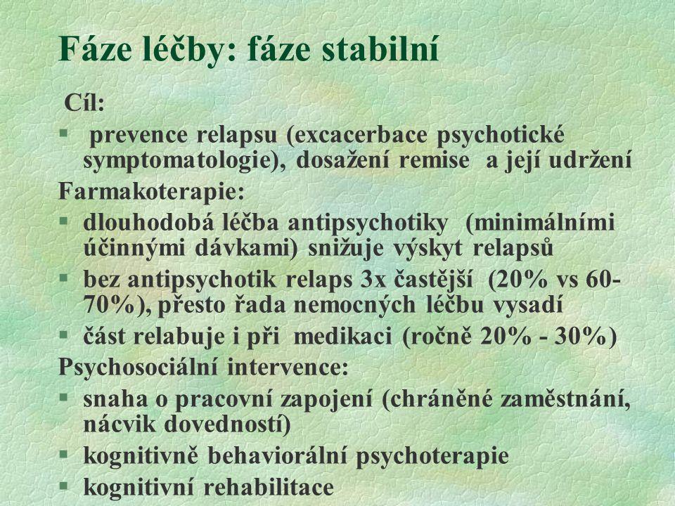 Fáze léčby: fáze stabilní