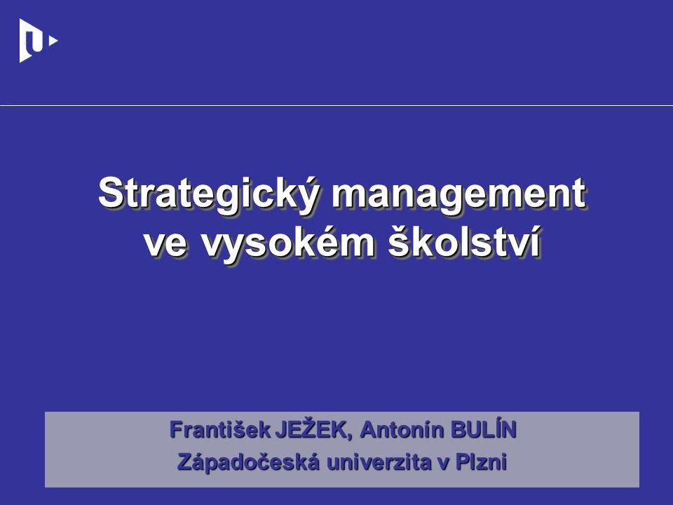 Strategický management ve vysokém školství