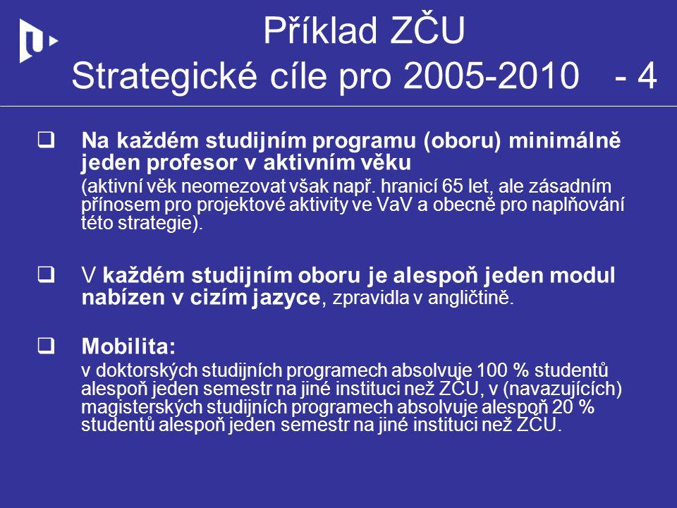 Příklad ZČU Strategické cíle pro 2005-2010 - 4