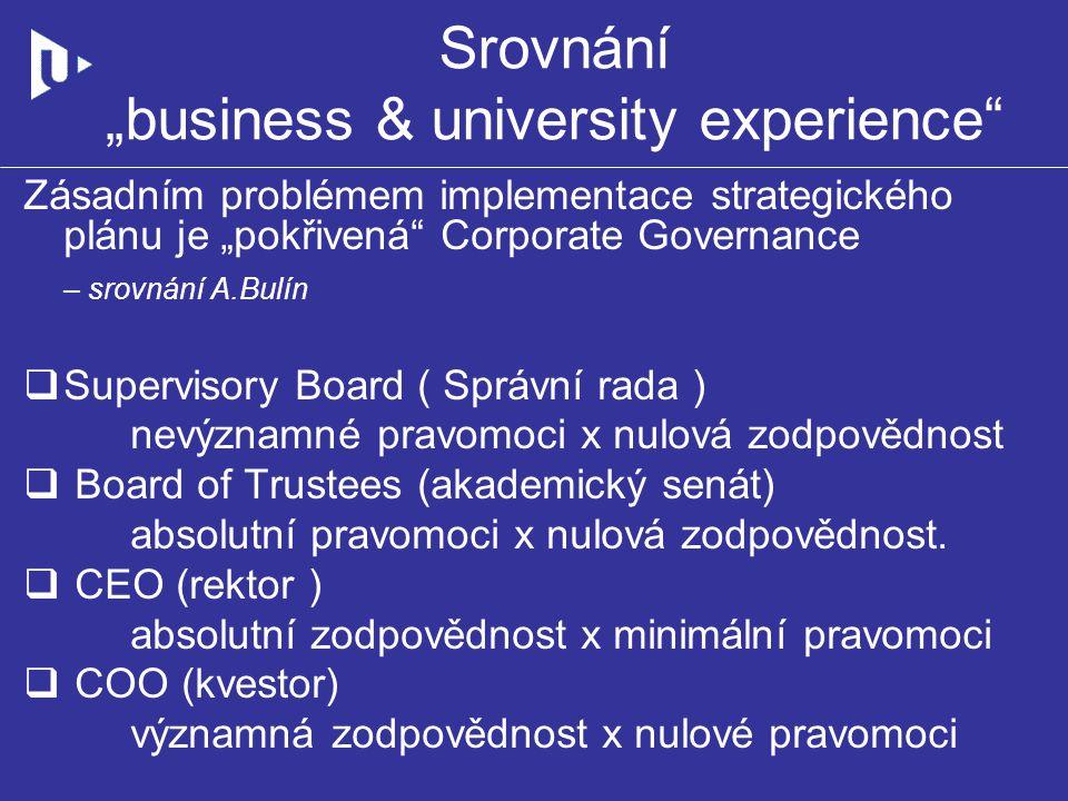 """Srovnání """"business & university experience"""
