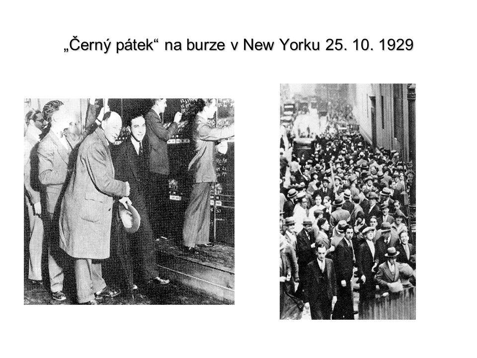"""""""Černý pátek na burze v New Yorku 25. 10. 1929"""
