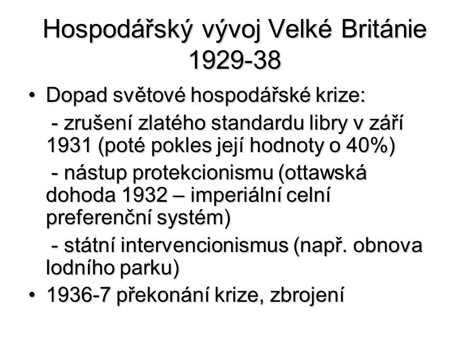 Hospodářský vývoj Velké Británie 1929-38
