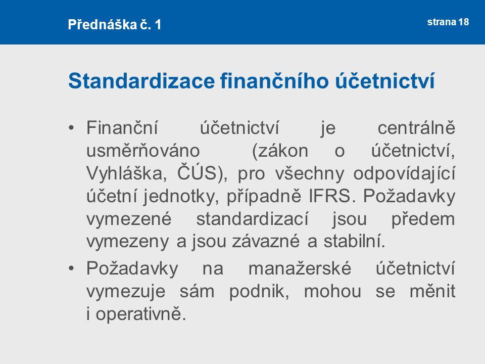 Standardizace finančního účetnictví