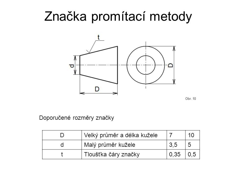 Značka promítací metody
