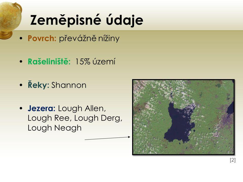 Zeměpisné údaje Povrch: převážně nížiny Rašeliniště: 15% území