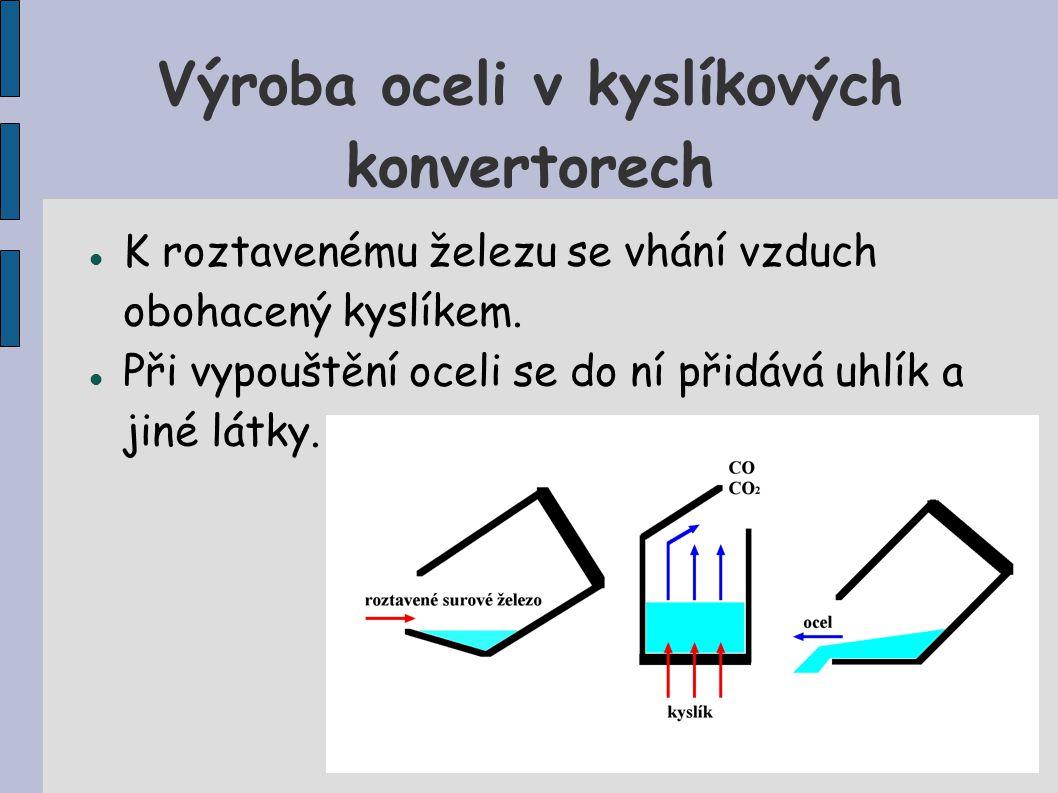 Výroba oceli v kyslíkových konvertorech