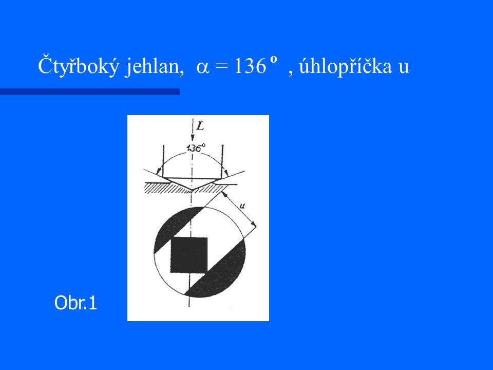 Čtyřboký jehlan, a = 136 o , úhlopříčka u