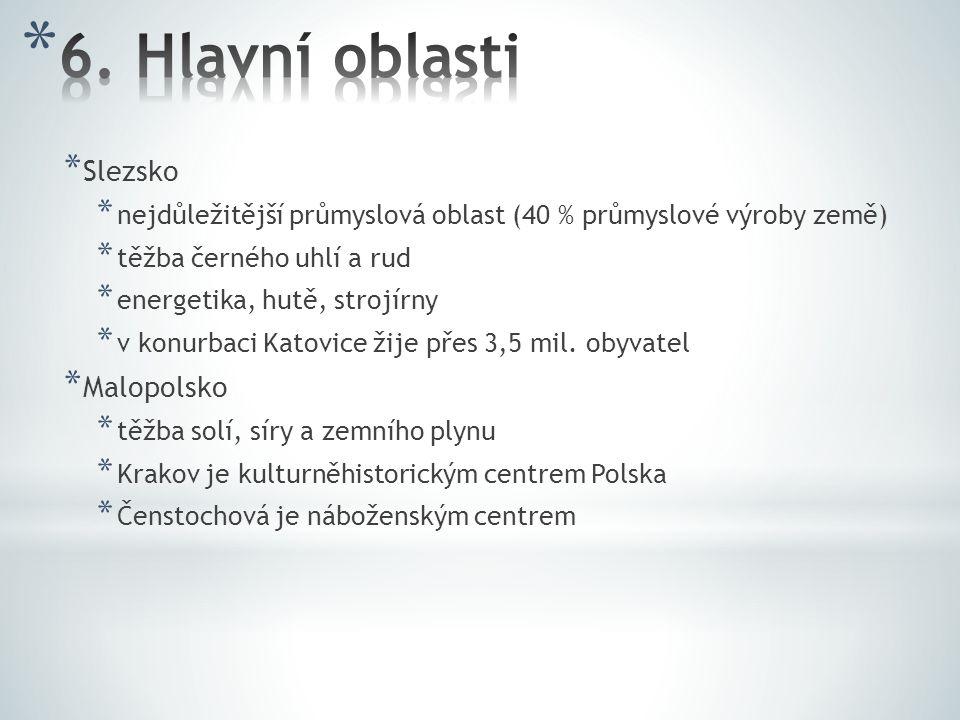 6. Hlavní oblasti Slezsko Malopolsko