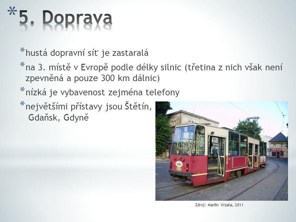 5. Doprava hustá dopravní síť je zastaralá