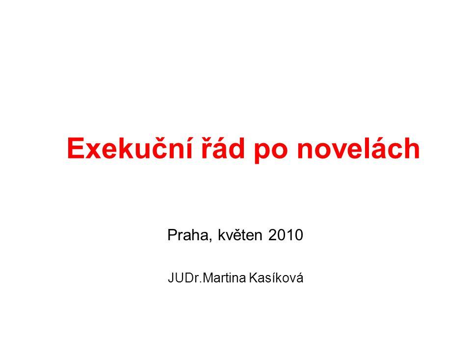 Exekuční řád po novelách