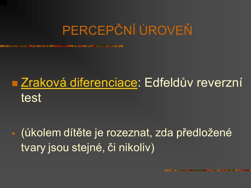Zraková diferenciace: Edfeldův reverzní test