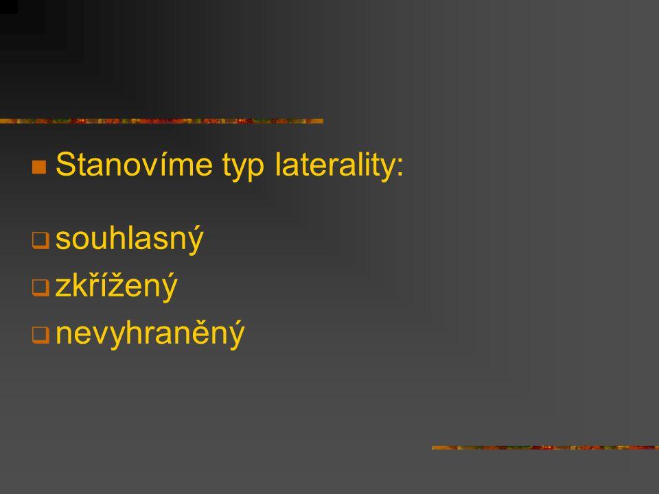 Stanovíme typ laterality: