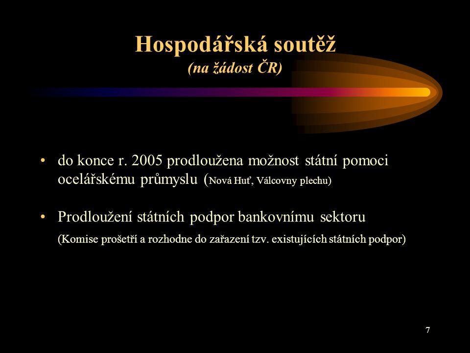 Hospodářská soutěž (na žádost ČR)