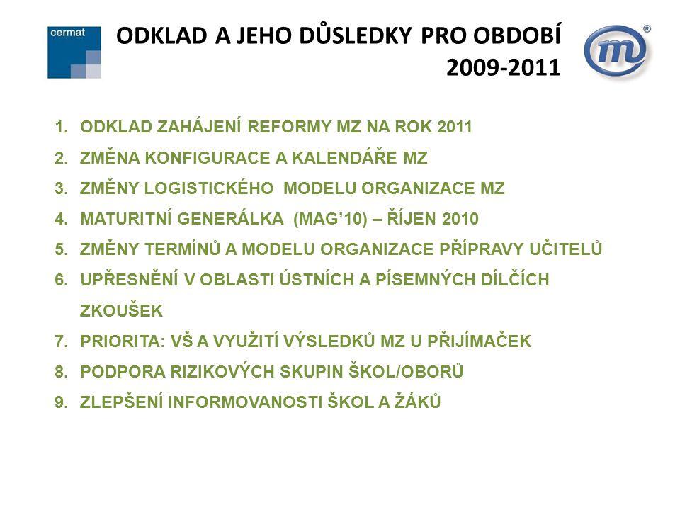 ODKLAD A JEHO DŮSLEDKY PRO OBDOBÍ 2009-2011