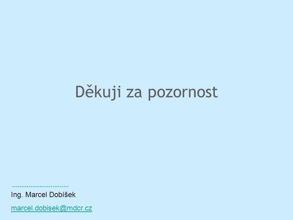 Děkuji za pozornost Ing. Marcel Dobíšek marcel.dobisek@mdcr.cz