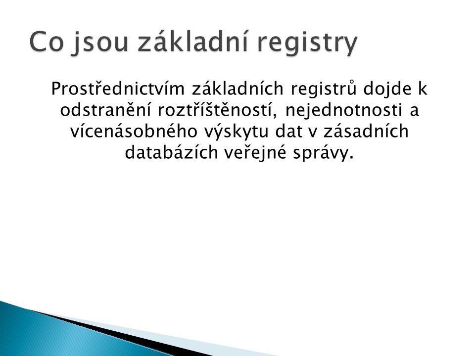 Co jsou základní registry