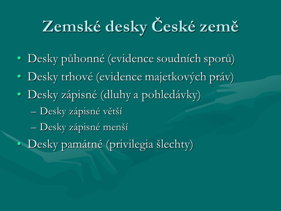 Zemské desky České země