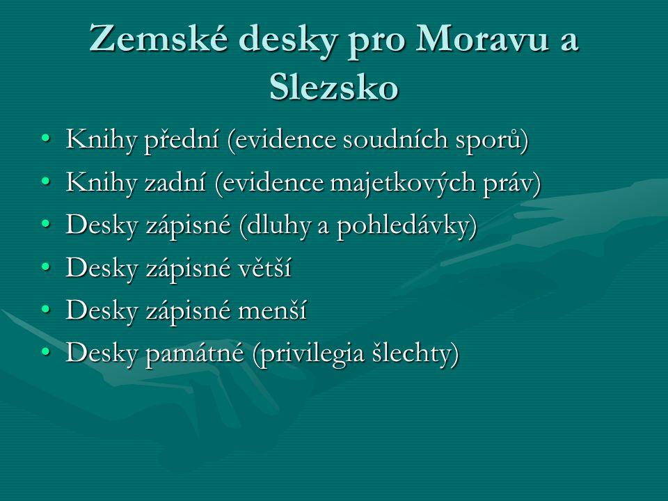 Zemské desky pro Moravu a Slezsko