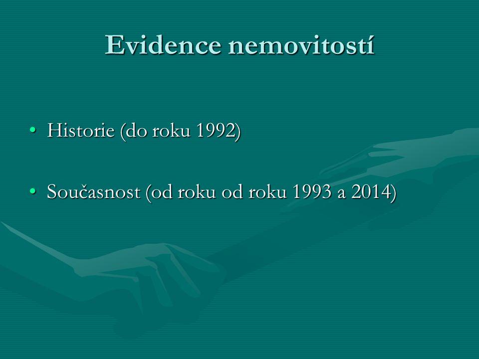 Evidence nemovitostí Historie (do roku 1992)