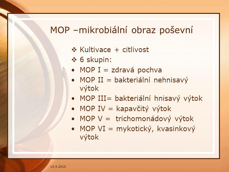 MOP –mikrobiální obraz poševní