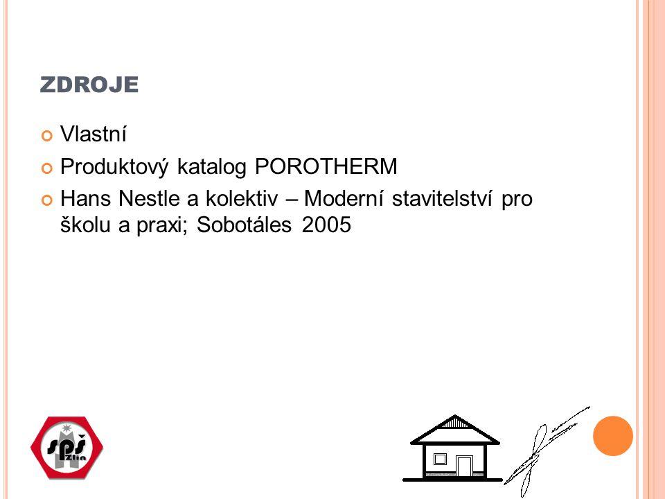 zdroje Vlastní Produktový katalog POROTHERM