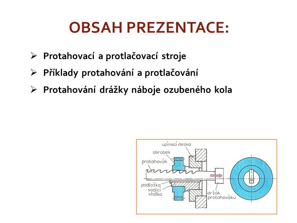 OBSAH PREZENTACE: Protahovací a protlačovací stroje