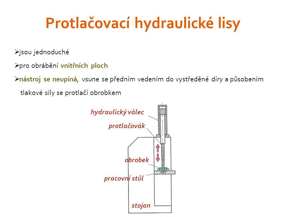 Protlačovací hydraulické lisy