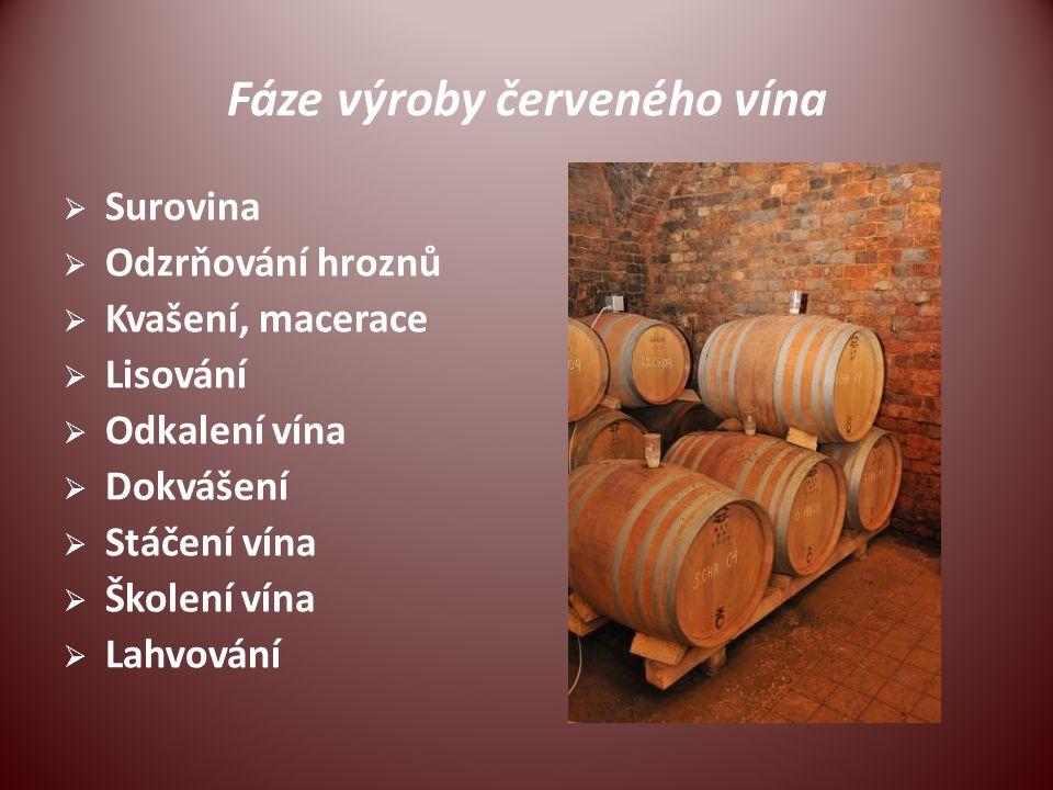 Fáze výroby červeného vína