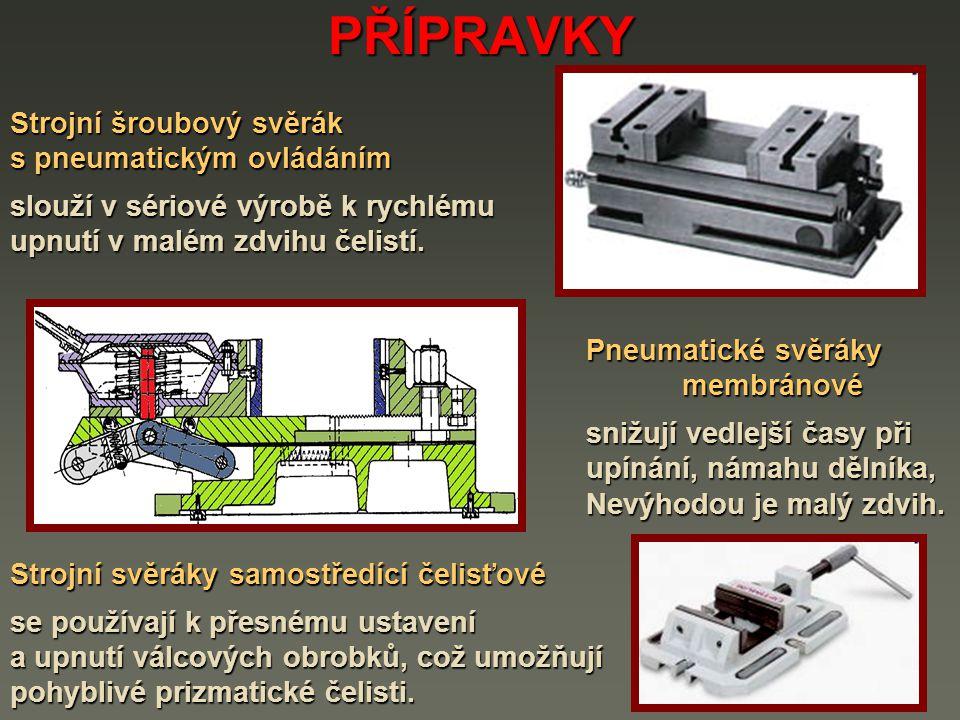 PŘÍPRAVKY Strojní šroubový svěrák s pneumatickým ovládáním