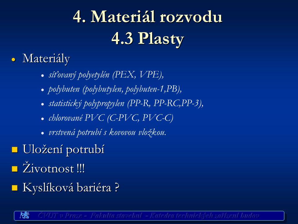 4. Materiál rozvodu 4.3 Plasty